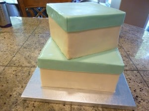 stacking hear ball cake tiers