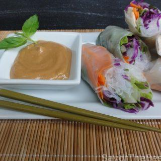 fresh vegetable spring rolls