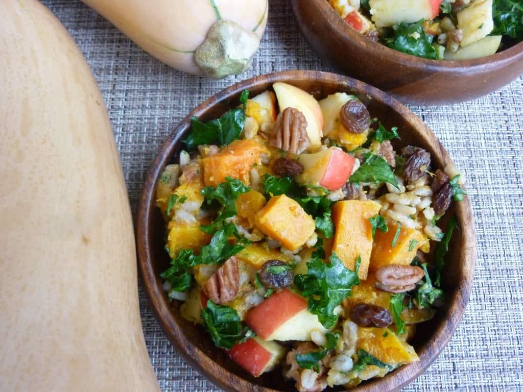 autumn barley butternut salad