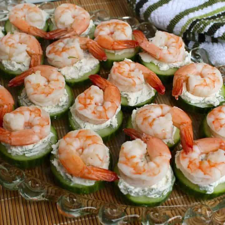 Cucumber-Shrimp Bite