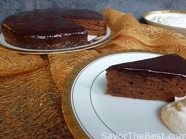 Sacher-torte (Austrian Chocolate Tart With Apricot Jam) Recipe ...
