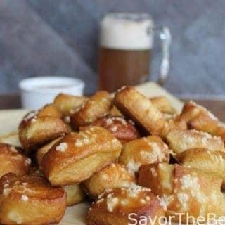 beer pretzel bites
