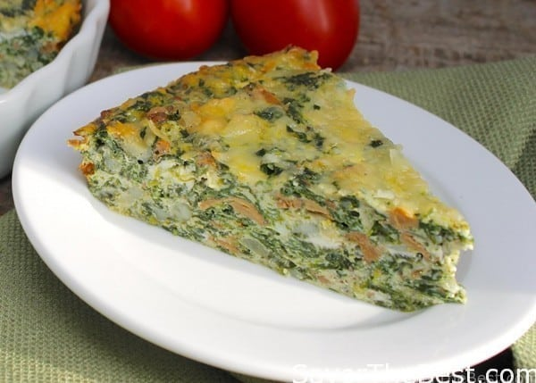 Crustless Spinach-Mushroom Quiche - Savor the Best