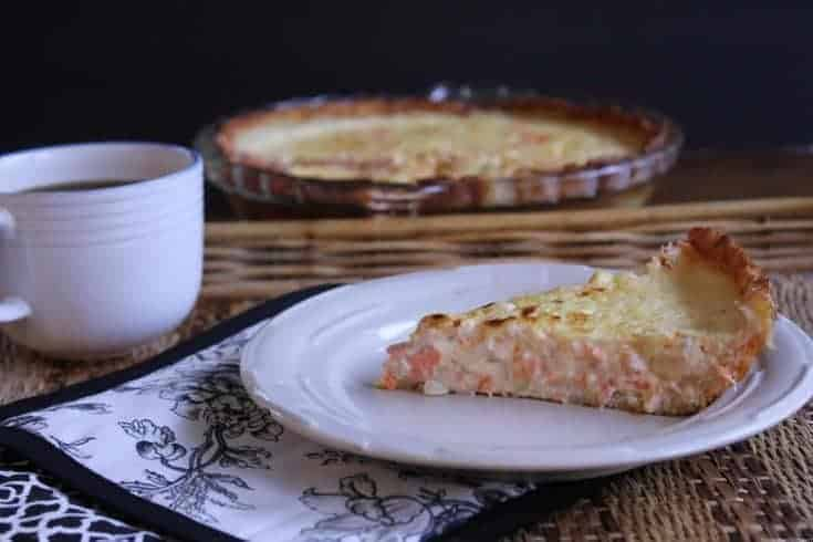 Salmon Quiche with Potato Crust