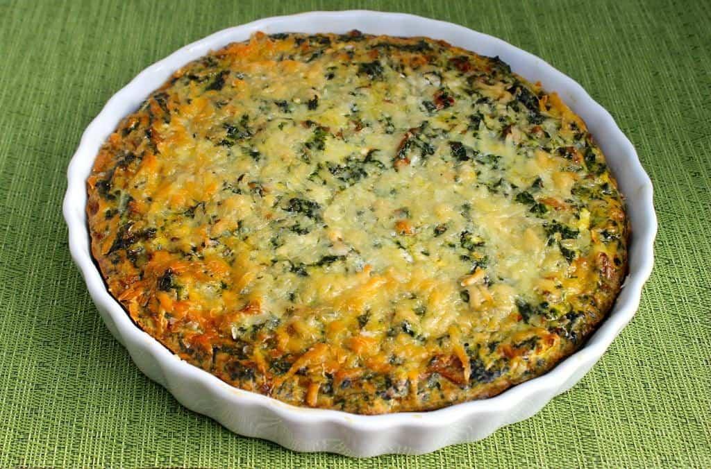 Crustless-Spinach-Mushroom-Quiche
