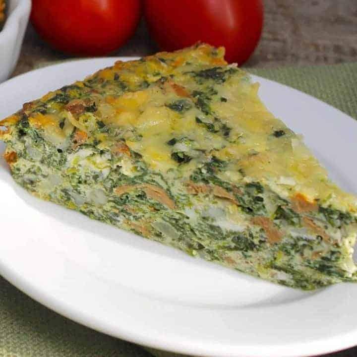 Crustless Spinach-Mushroom Quiche