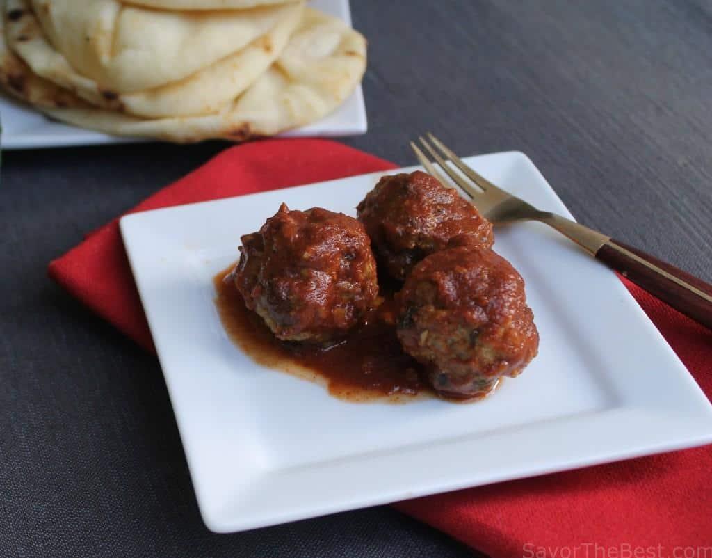 Moroccan Lamb Meatballs in Spicy Tomato Sauce