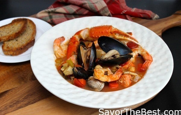 a bowl of Seafood Stew