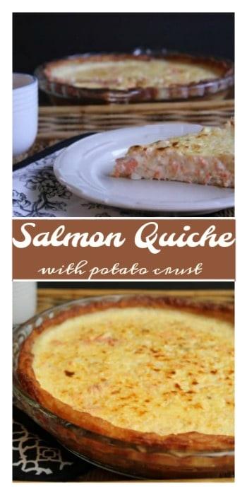 salmon quiche with potato crust