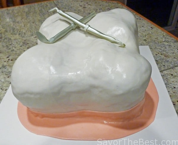 Molar tooth cake