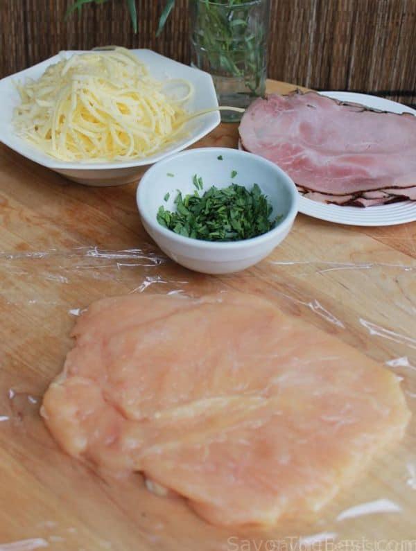 tarragon chicken prep