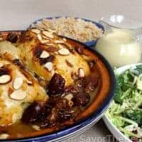 Moroccan Chicken Tagine with Dates and Preserved Lemons