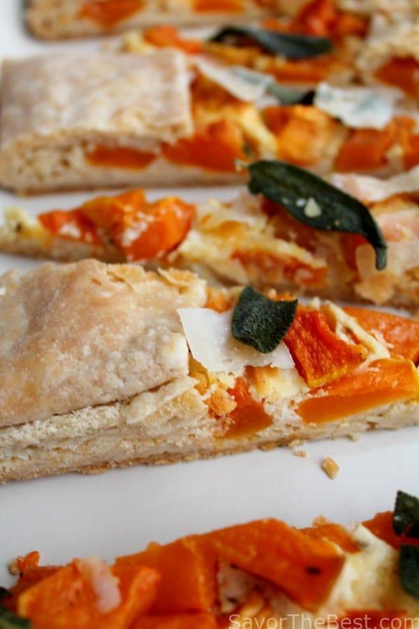Savory Butternut Squash Crostata with Fried Sage