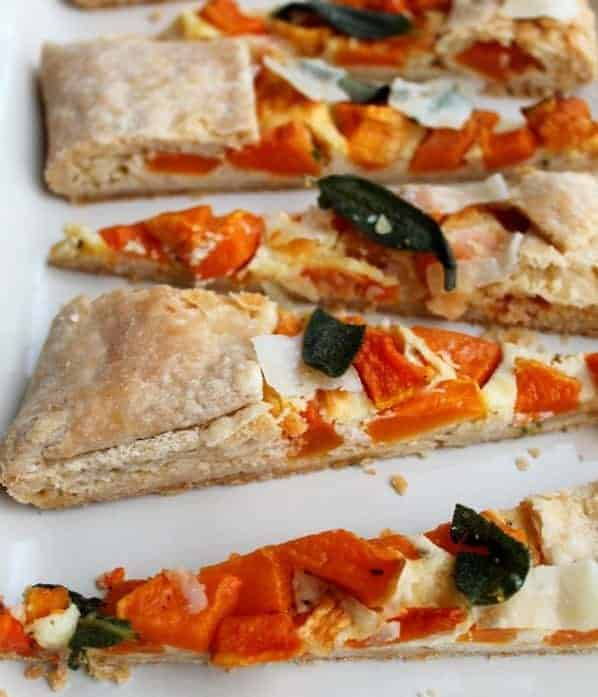 Butternut Squash Crostata with Fried Sage