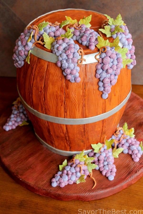 Wine Barrel Cake Savor The Best