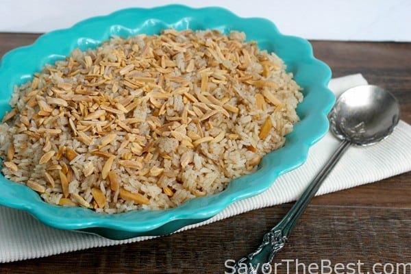 Toasted Almond Rice Pilaf Recipe | Just A Pinch Recipes
