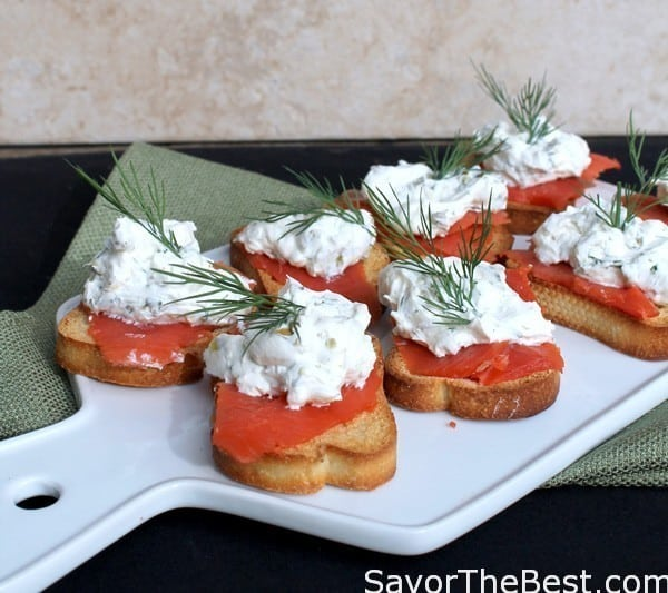 Mascarpone smoked Salmon Bruschetta