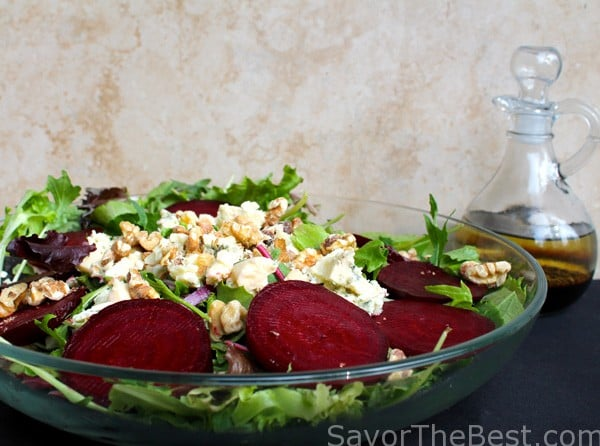 Roasted Beets and Blue Cheese Salad with Walnuts and Balsamic ...