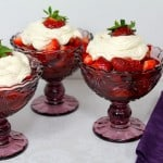 Strawberries with Marsala and Sweetened Ricotta