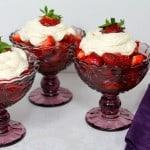 Strawberries with Marsala and Sweetened Ricotta
