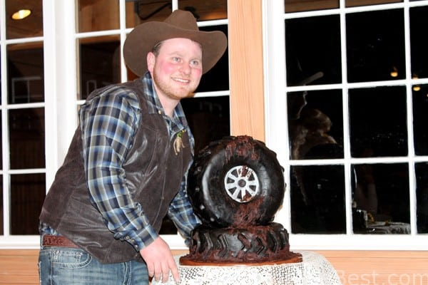 muddy tire groom's cake