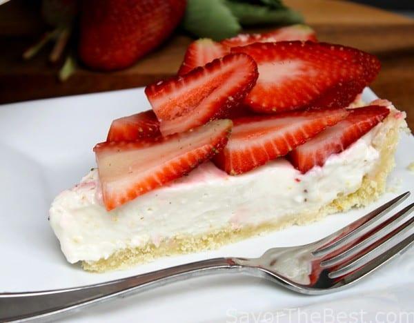 Lemon Ricotta Strawberry Tart with a Shortbread Crust