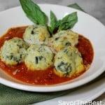 Malfatti in Tomato-Garlic Sauce