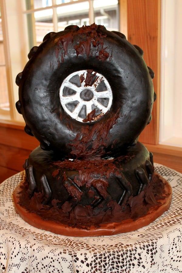 Muddy Tire Cake (Groom's Cake)