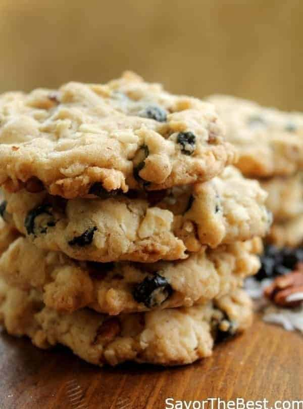 Blueberry, Pecan, Coconut, White Chocolate, Oatmeal Cookies - Savor ...