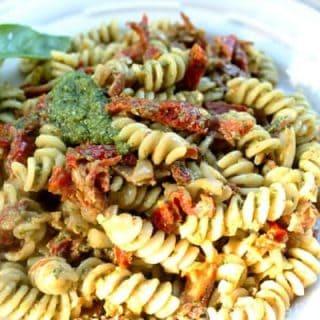 Pesto Pasta with Prosciutto and Sun Dried Tomatoes