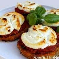 Baked Eggplant with Goat Cheese