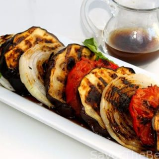 Grilled Eggplant Salad with Balsamic Vinaigrette