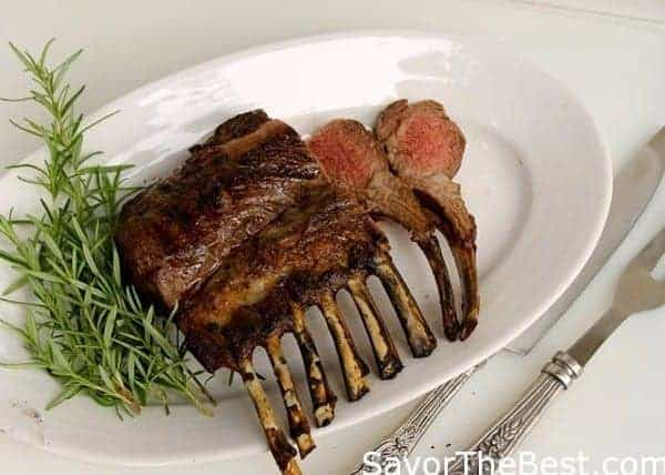 Grilled Rack of Lamb with Mint Pesto