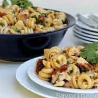Pasta Salad with Grilled Chicken and Chipotle Dressing