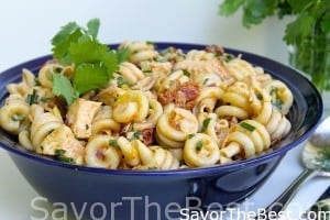 Pasta Salad with Grilled Chicken and Chipotle