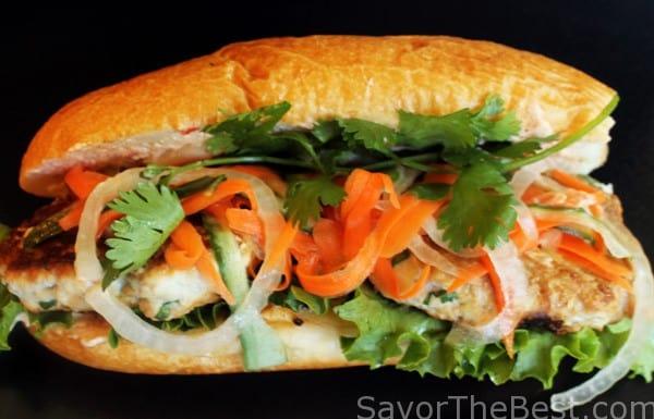 Chicken Banh Mi Sandwich
