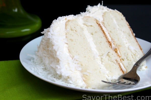 Coconut Cake With Awesome Coconut Butter Cream Frosting