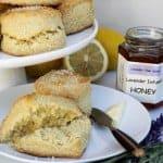 Lemon Buttermilk Scones with Lavender Infused Honey