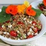Toasted Farro Salad with Nasturtium Flowers