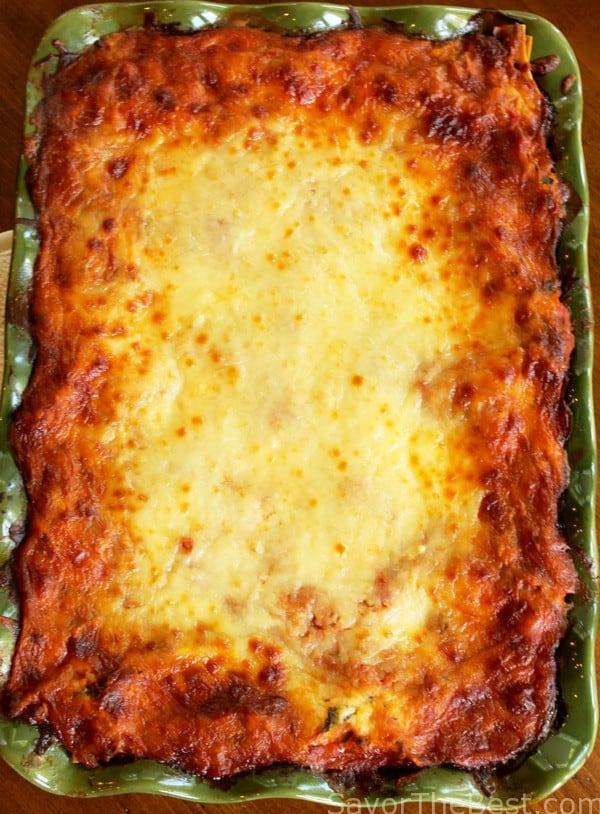 Beef and sausage lasagna