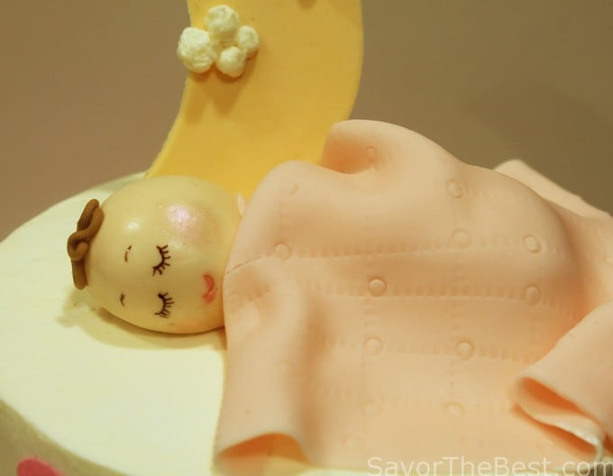 fondant sleeping baby