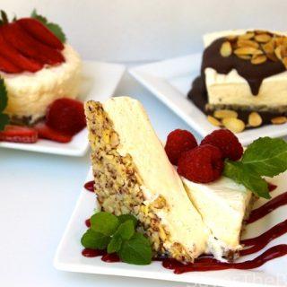 Semifreddo Trio, Chocolate Amaretto, Raspberry and Strawberry