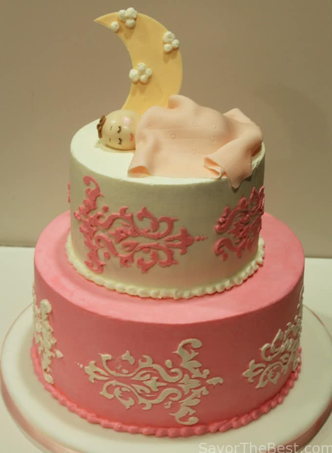 Sleeping Baby-Baby Shower Cake