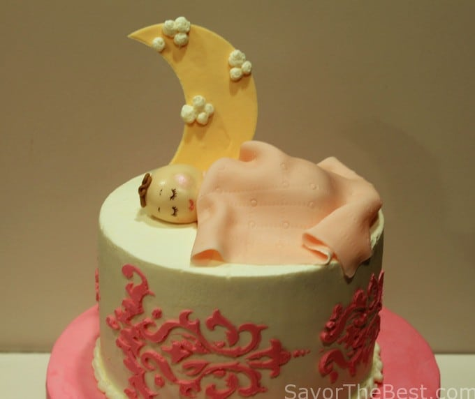 Sleeping baby- baby shower cake