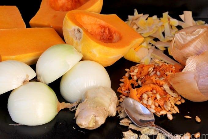cut up vegetables
