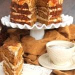 Pumpkin Spice Caramel Latte Cake