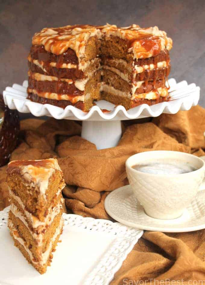 Pumpkin Spice Caramel Latte Cake Savor The Best
