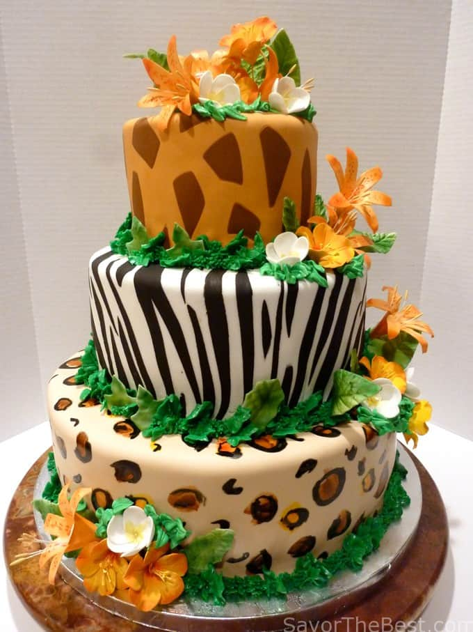 Jungle Cake Decoration Ideas : Tropical Jungle Cake Design - Savor the Best