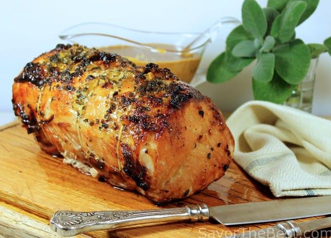 Pork Roast with Garlic-Ginger Glaze