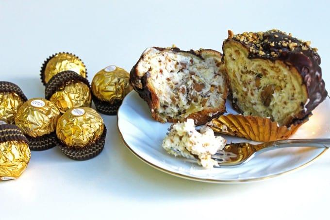 Ferrero-Rocher Profiteroles